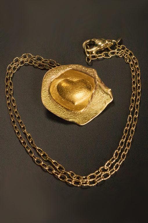 Emerging heart pendant-Natalie Barat Design