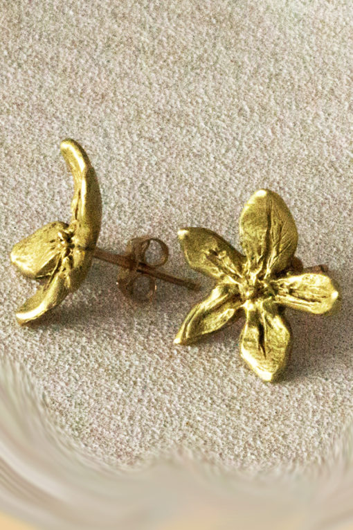 18K flower power earrings-Natalie Barat Design