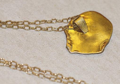 Emerging heart back of pendant-Natalie Barat Design