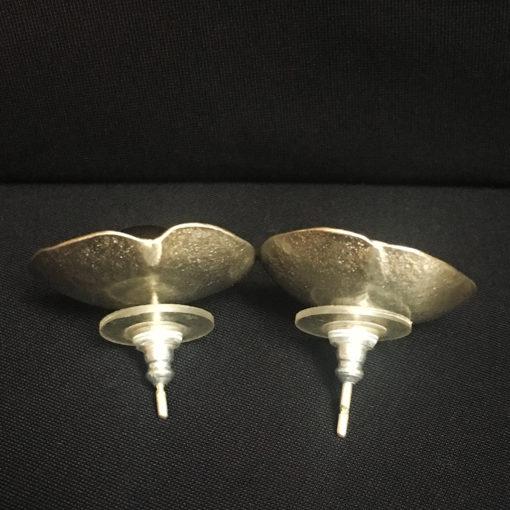 black pearl silver earrings-Natalie Barat Design