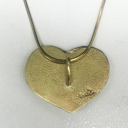 brassy heart back of pendant-Natalie Barat Design