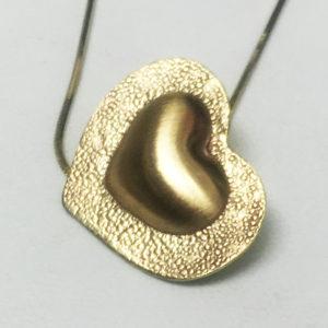 brassy heart pendant-Natalie Barat Design