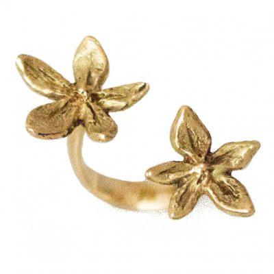 Flower Power ring 18K gold
