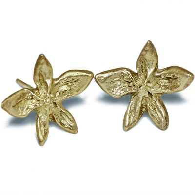 18K flower power earrings-Natalie Barat Design