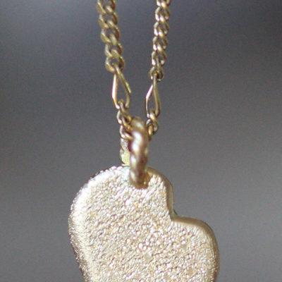 mini golden heart pendant-Natalie Barat Design