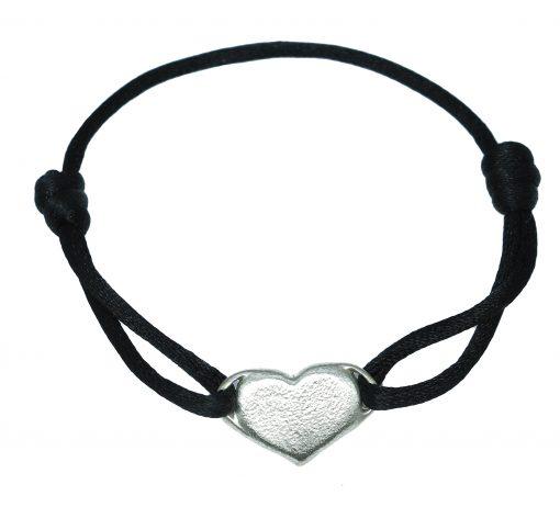 Silver heart bracelet-Natalie Barat Design