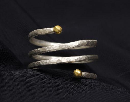 spiral-ring-24K-SS-Natalie Barat Design
