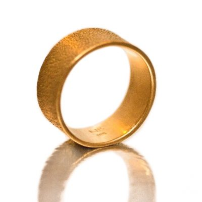 Textured gold band-Natalie Barat Design