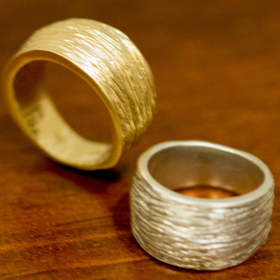 Wide textured band- NatalieBaratDesign