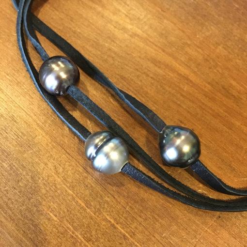 Tahitian triple pearl choker / bracelet