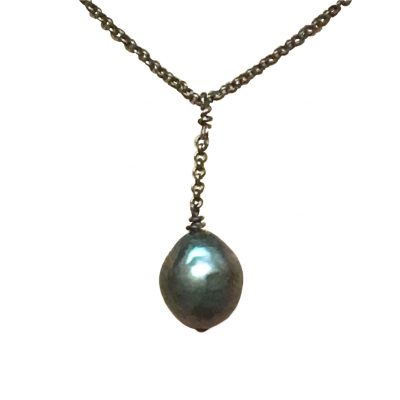 Natural Tahitian pearl necklace