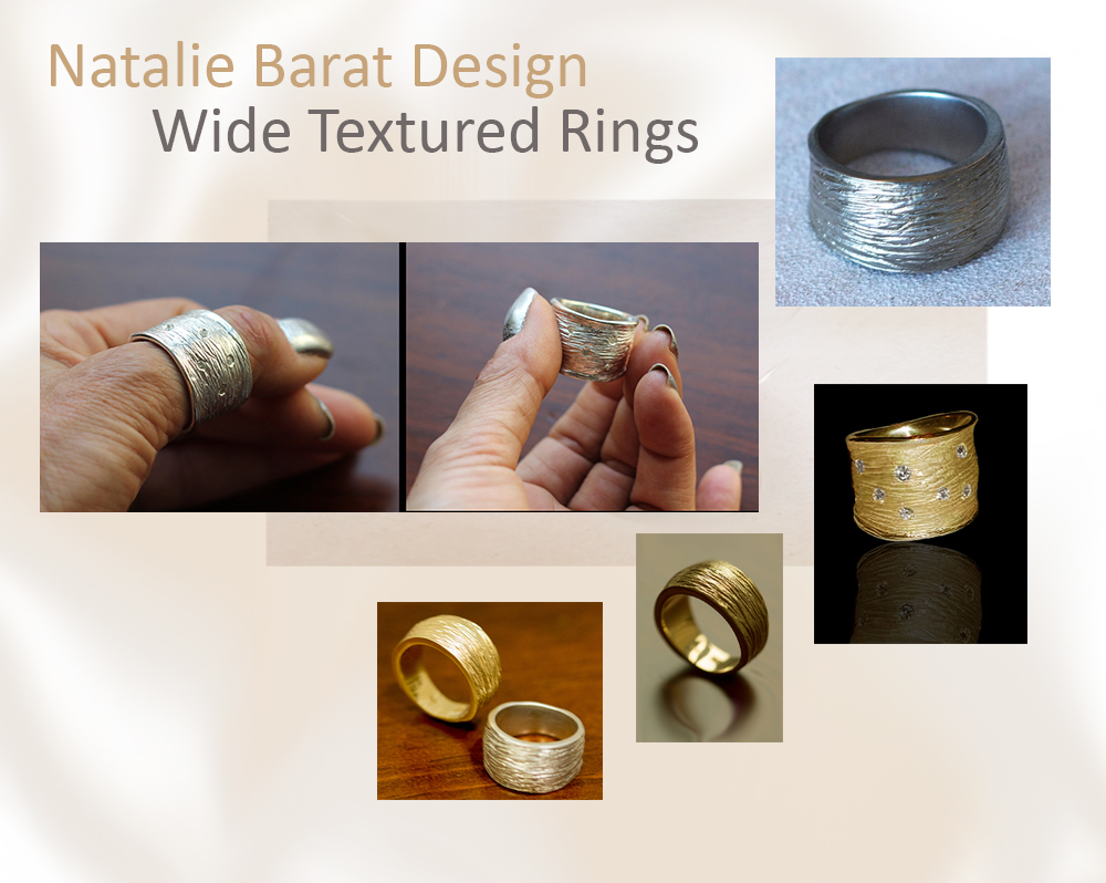 Wide Textured Rings