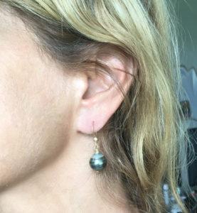 Tahitian Matt gold plated earrings