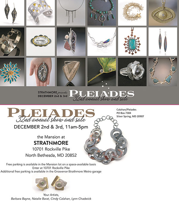 Pleiades Art Jewelry show At the Mansion