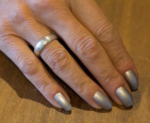 Natalie Barat-sterling silver hammered band