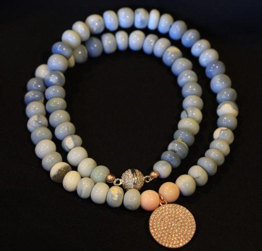 Blue Opal necklace-Natalie Barat Design