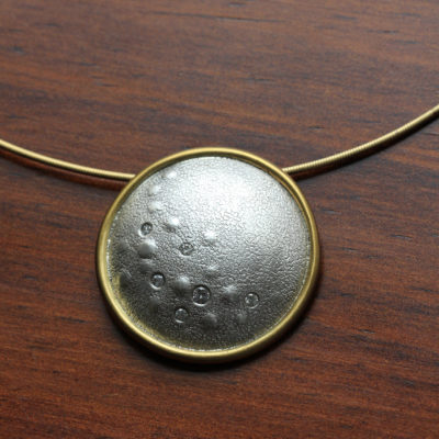Full Moon diamond pendant-Natalie Barat Design