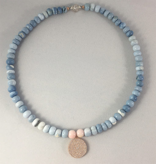Blue and pink Opal necklace - Natalie Barat Design