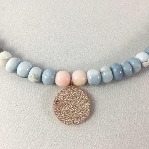 Blue and pink Opal necklace - Natalie Barat Design