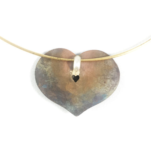 heart necklace back-Natalie Barat Design