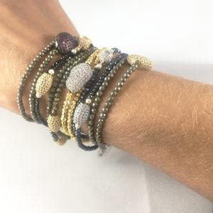 assorted double bracelets Natalie Barat Design
