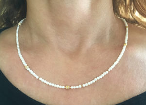South sea pearls with 18K and diamond pave beads- Natalie Barat Design