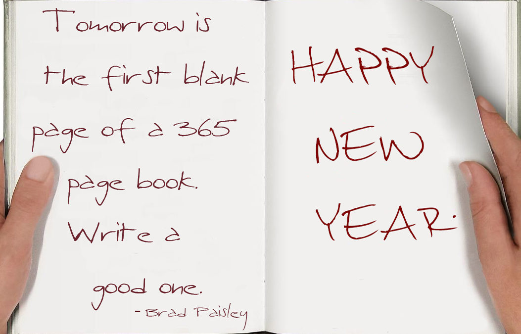 New Year blank book quote