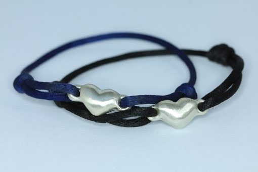 blue and black silver hearts