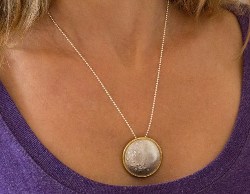 Eclipse of the full moon pendant