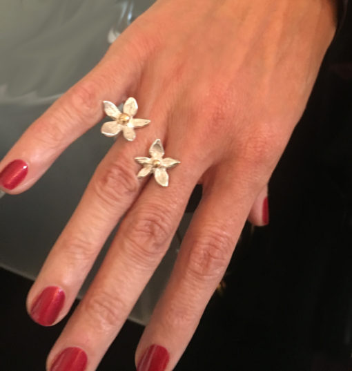 flower power ring with 14K gold-Natalie Barat Design