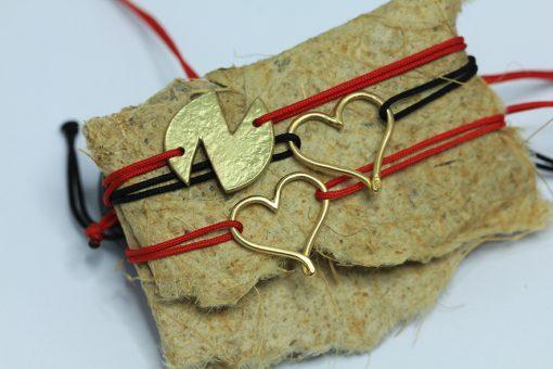heart-N-gold bracelets