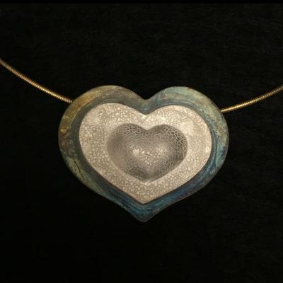 Heart necklace-Natalie Barat Design
