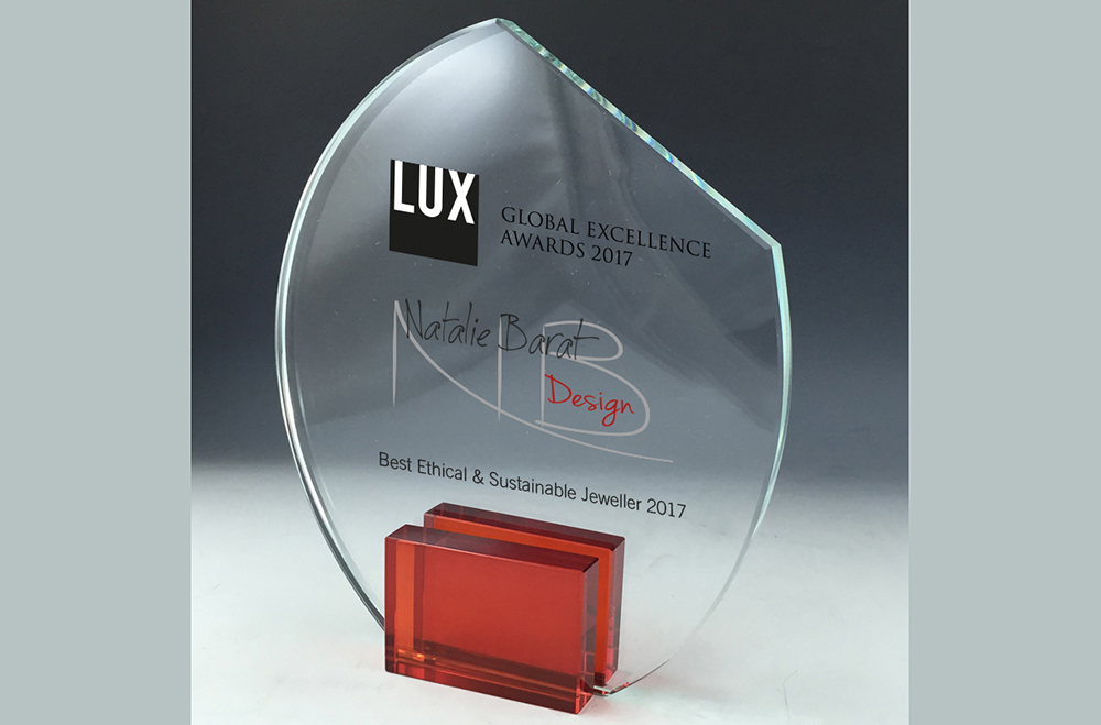 "Global Excellence Award for the ""Best Ethical & Sustainable Jeweler 2017"""