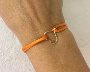18K gold mini open heart bracelet-Natalie Barat Design