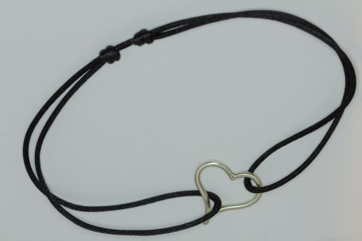 open heart necklace choker