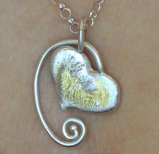 Molten Heart Necklace