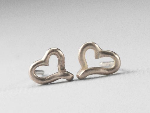 Silver mini ear studs
