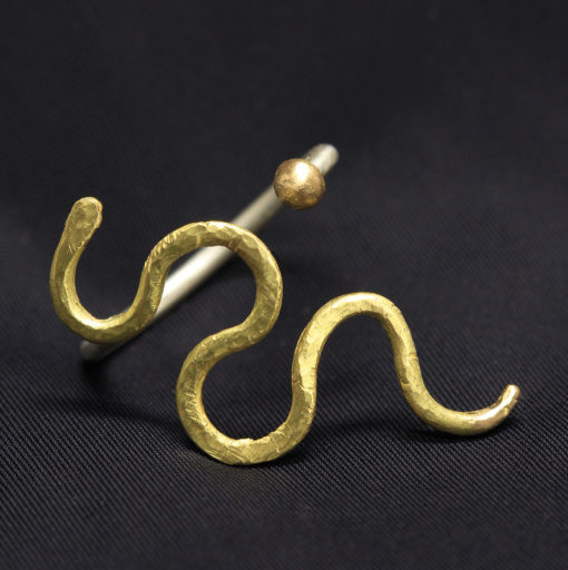 18K gold serpent n gold ring - Natalie Barat Design