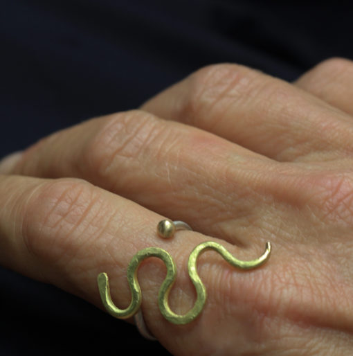 serpent n gold ring - Natalie Barat Design