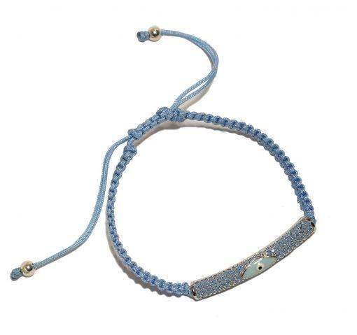 Evil eye bracelets blue
