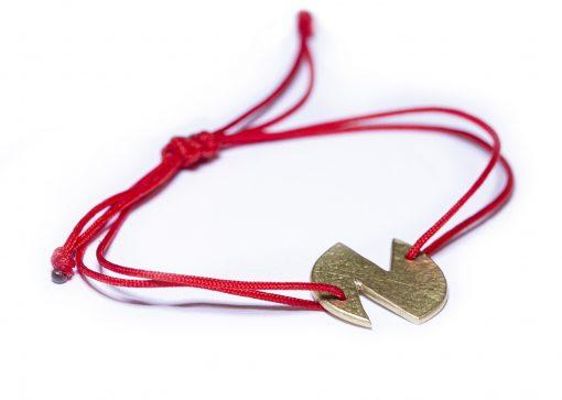 18K initial N bracelet