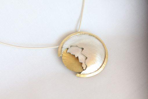 Solar Eclipse of a kind pendant
