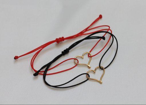 Mini 18K gold heart bracelets