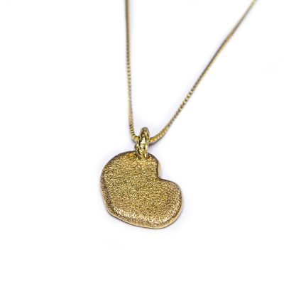 mini golden heart pendant-Natalie Barat Design
