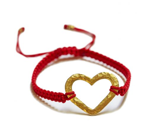 18K gold Hammered heart