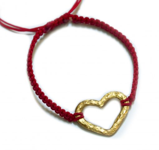 18K gold Hammered heart