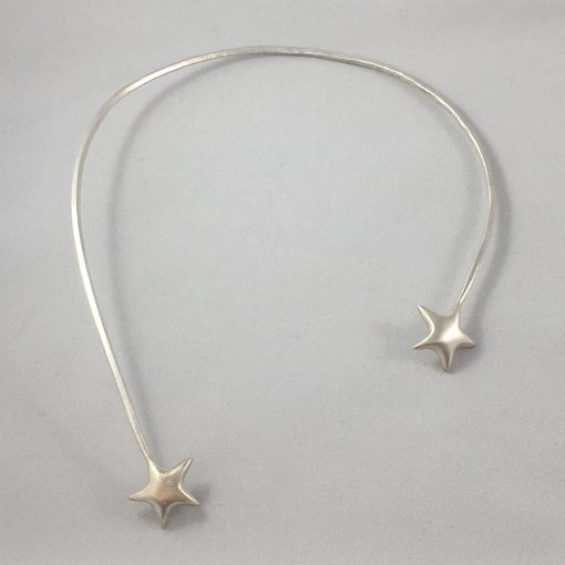 Sterling Silver Shooting Star Neck Piece