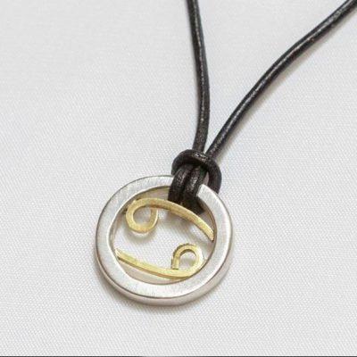 Cancer sign necklace