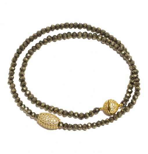 pYRITE CHOCKER OR DOUBLE BRACELET
