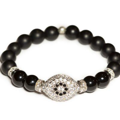 onyx evil eye bracelet